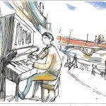 ストリートピアノすみだ川トリミング